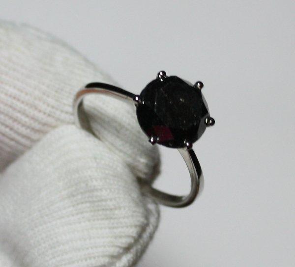 8: 3.00 Carat Black Diamond Solitaire