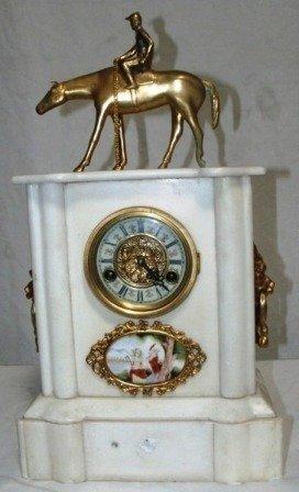 13: Marble Clock w/Gold Trim