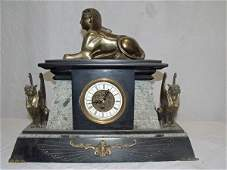 232: Marble Clock w/Sphinx