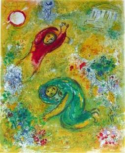 """112: CHAGALL """"DAPHNIS AND CHLOE: LES FLEURS SACCAGEES"""