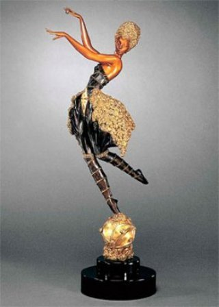 "7: Erte' ""Rose Dancer"" Original/Ltd Ed Bronze"