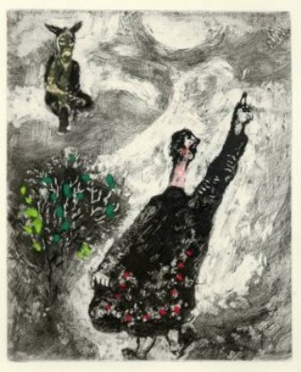 "21:  CHAGALL ""THE CHARLATAN"" ORIGINAL ETCHING 1952"