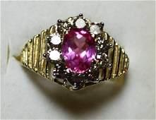 204 Pink Sapphire  Diamond Ring  200 Carat Total Wg