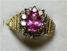219 Pink Sapphire  Diamond Ring  200 Carat Total Wg