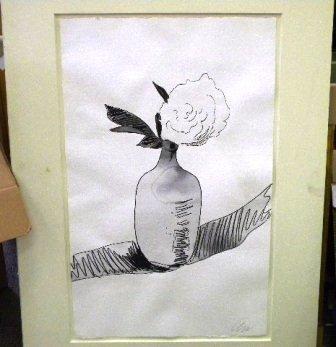 "430: Warhol ""Flowers"" Screen print Hand-colored"