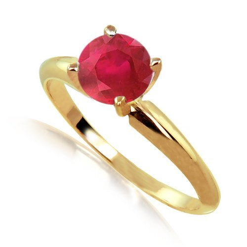 25: 2 Carats Ruby Solitaire Ring in 14KY