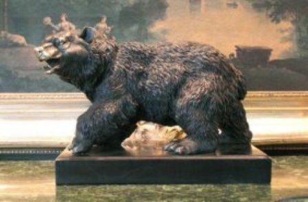 """4: """"BLACK BEAR"""" BY BARYE BRONZE SCULPTURE"""