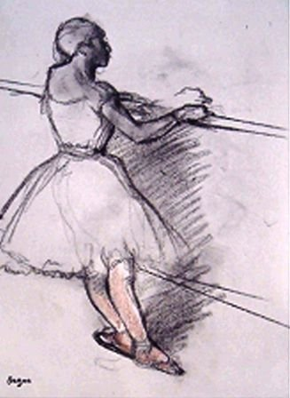 "2: ""From The  Rare Suite Danse Dessin"" Edgar Degas"