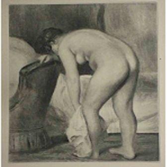 """6: """"Apres le Bain""""  Pierre-Auguste Renoir"""