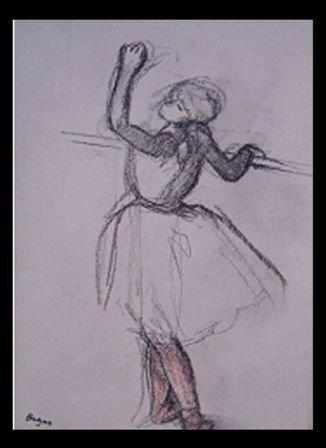 "10: ""From The  Rare Suite Danse Dessin"" Edgar Degas"