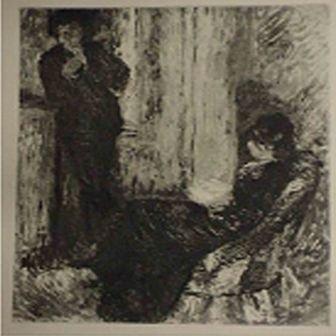 """21: """"Au coin de la Cheminee"""" Pierre-Auguste Renoir"""