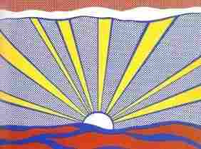 "Lichtenstein ""Sunrise"" Original Screen-print 1965"