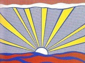 """Lichtenstein """"Sunrise"""" Original Screen-print 1965"""