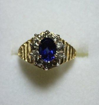 Sapphire & Diamond Ring - 2.2 Carat Total Weight