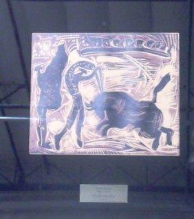 """Picasso """"Banderillas"""" Linocut"""