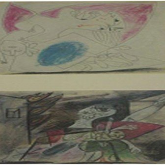 "10: ""Study for Guernica (1937) "" Pablo Picasso"