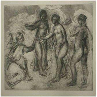 """21: """"Le Judgement de Paris (Dessin)"""" Renoir"""