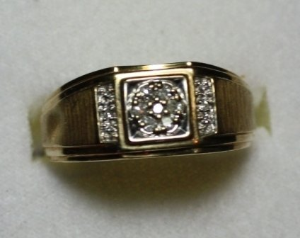 Gents .10 Carat Total Weight Diamond Ring