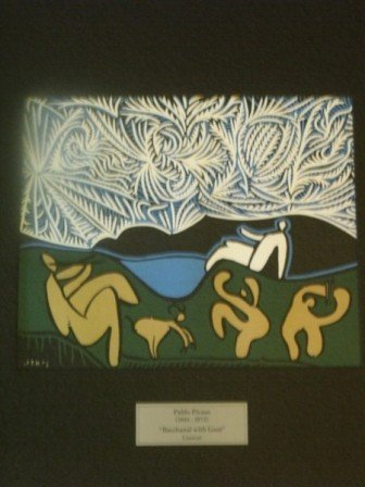 """Picasso """" Bacchanal with Goat"""" Linocut"""