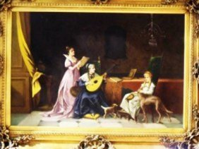 """ARISTOCRAT SCENE"" BY ANDERSON ON CANVAS"
