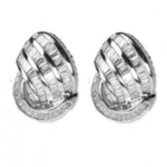 3.20 Ct Vs Diamond Earrings 18 K w