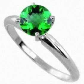 0.25 ct Emerald Ring 14KW