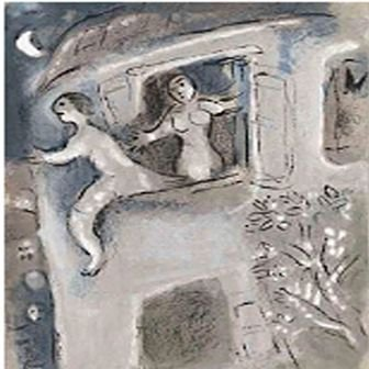 """David Saved by Michal"" Chagall"