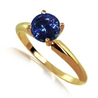1ct Tanzanite Solitare Ring 14 ky Gold