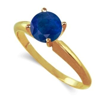 .50ct  Faceted Sapphire Ring In 14k Dualtone Gold