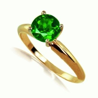 .50ct Chrome Diopside Ring 14ky Gold