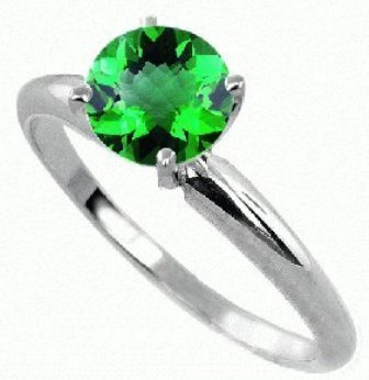 0.50 ct Emerald Ring 14KW