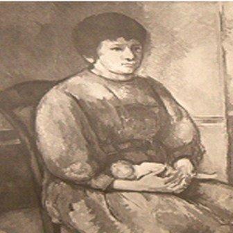 """""""Jeune Fillea a la Poupee"""" Cezanne"""