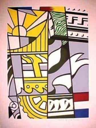 """""""Bicentennial Print, 1975"""" Lichtenstein"""