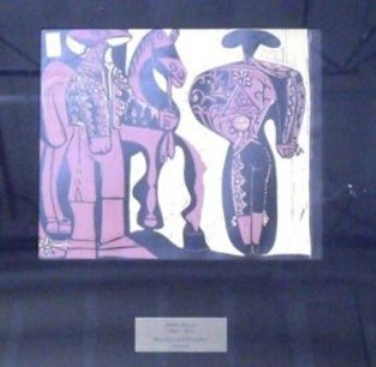 """Picasso """"Picador and Madator"""" Linocut"""