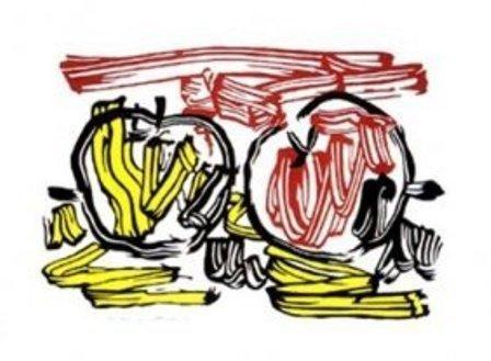 """""""Red Apple and Yellow Apple"""" Lichtenstein"""