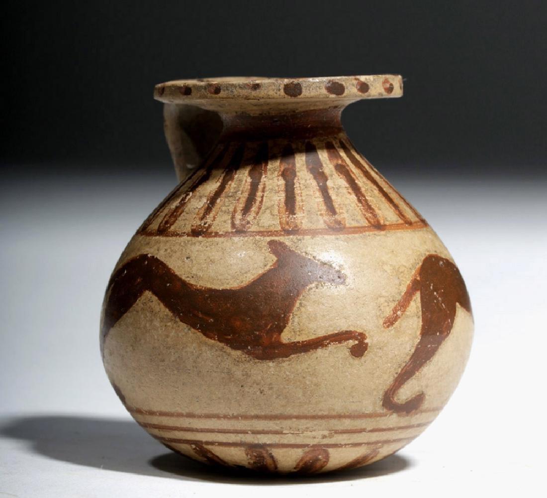 Greek Corinthian Pottery Aryballos - Running Dogs