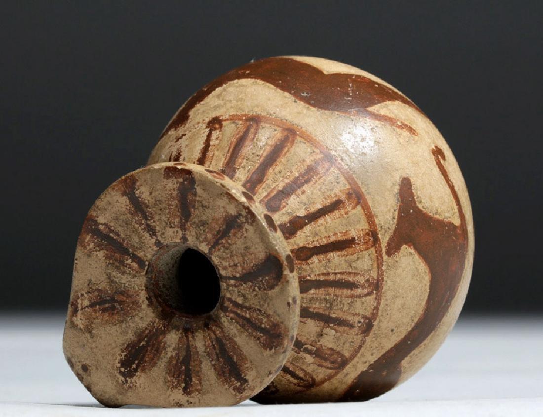 Greek Corinthian Pottery Aryballos - Running Dogs - 5
