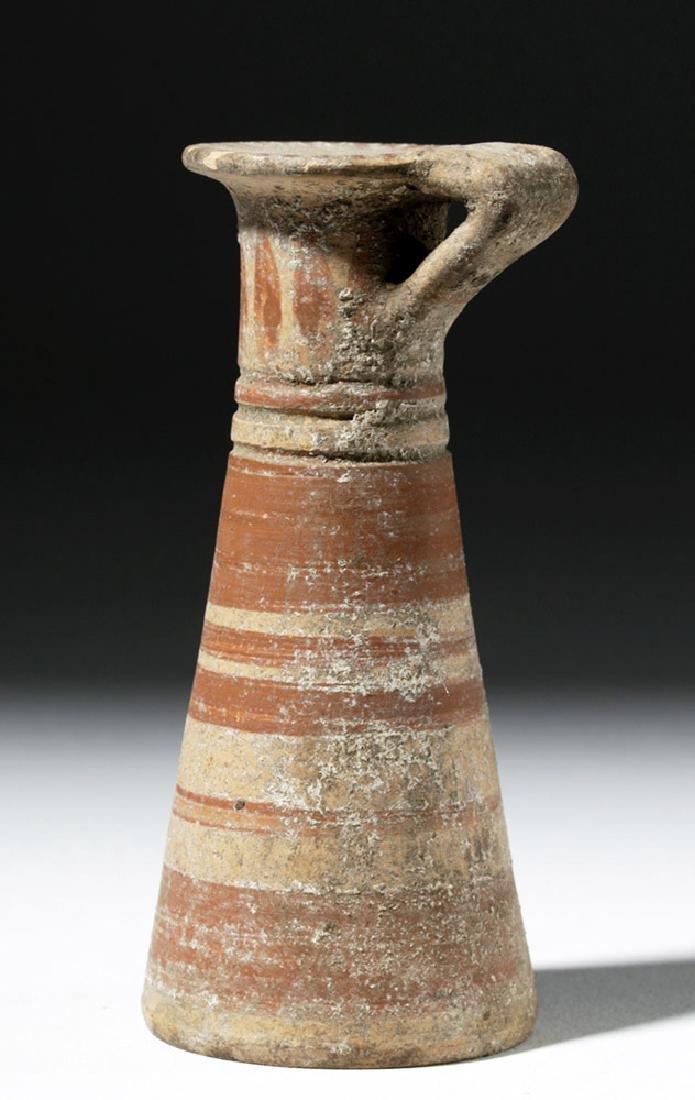 Taller Greek Corinthian Polychrome Aryballos - 2