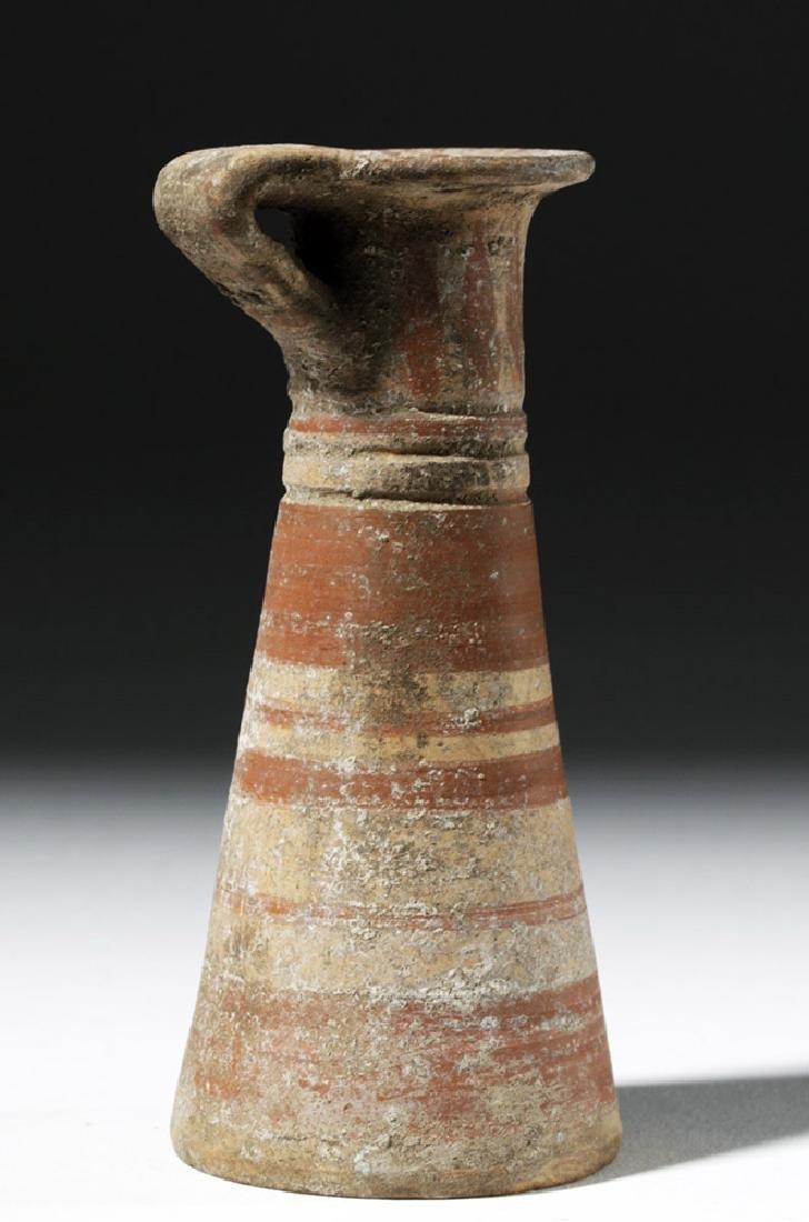 Taller Greek Corinthian Polychrome Aryballos - 3