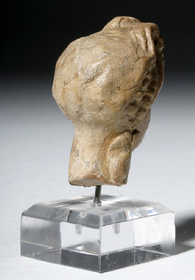 Ancient Greek Terracotta Head of a Goddess - 3