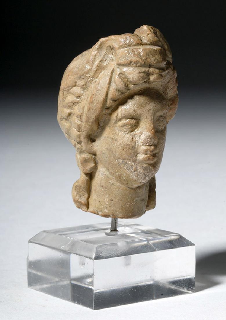 Ancient Greek Terracotta Head of a Goddess - 4