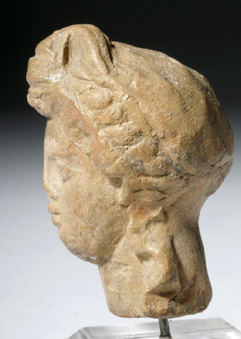 Ancient Greek Terracotta Head of a Goddess - 6