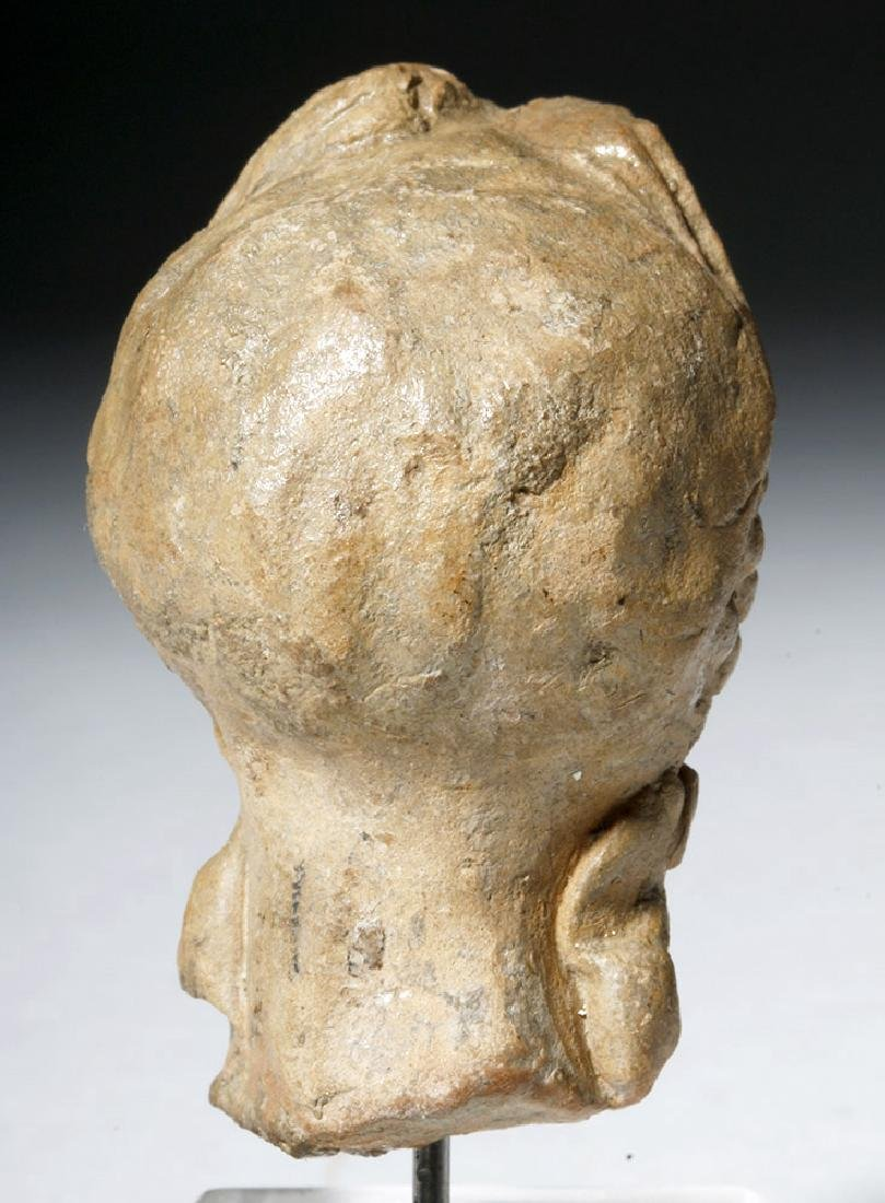 Ancient Greek Terracotta Head of a Goddess - 7