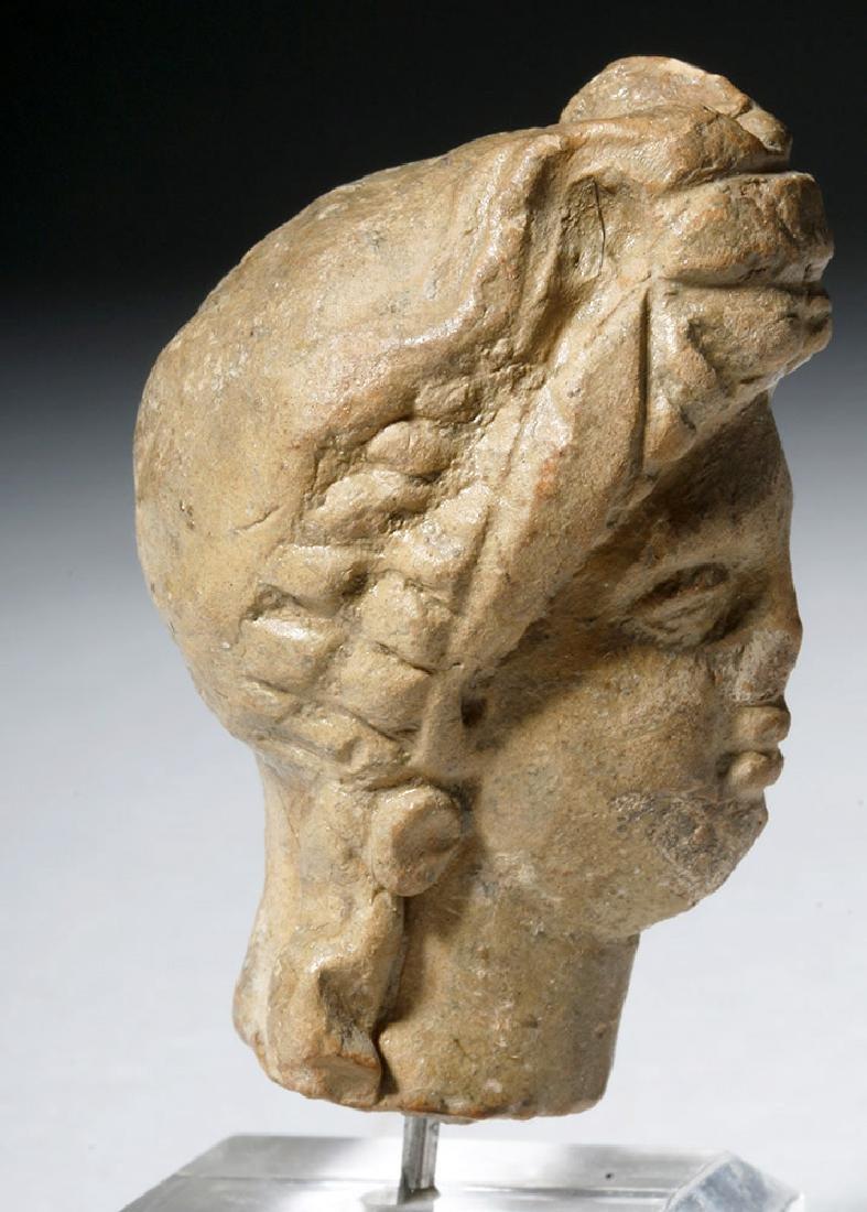 Ancient Greek Terracotta Head of a Goddess - 8
