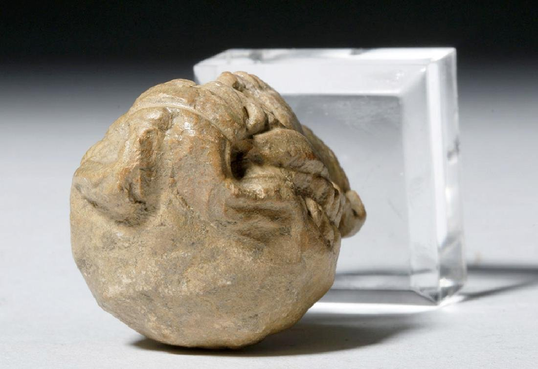 Ancient Greek Terracotta Head of a Goddess - 9