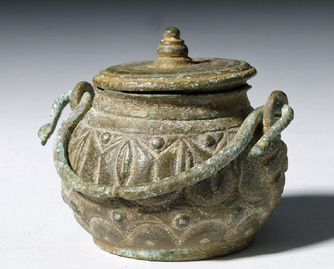 Roman Bronze Lidded Jar / Makeup Pot