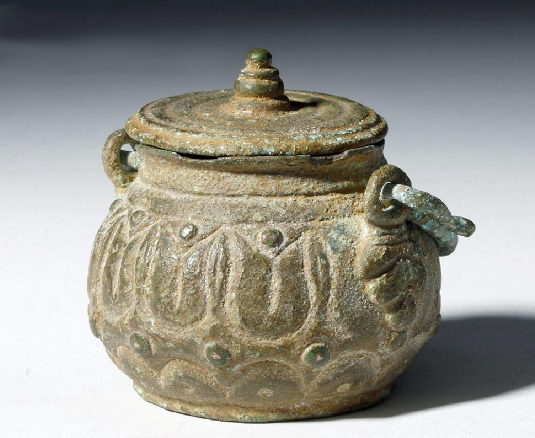 Roman Bronze Lidded Jar / Makeup Pot - 3
