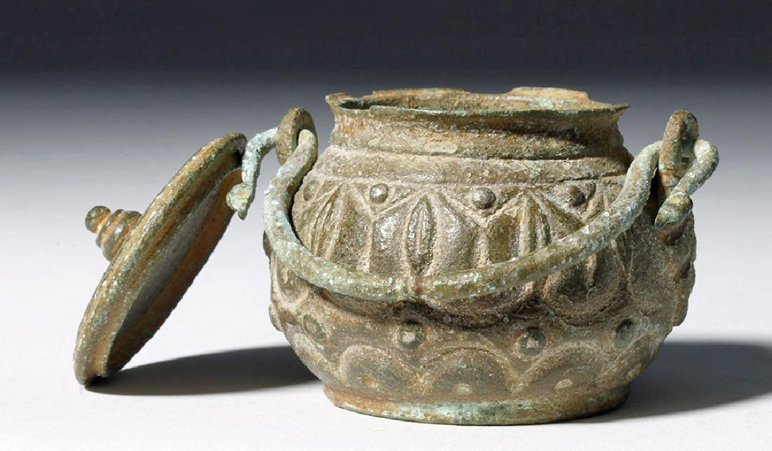 Roman Bronze Lidded Jar / Makeup Pot - 5