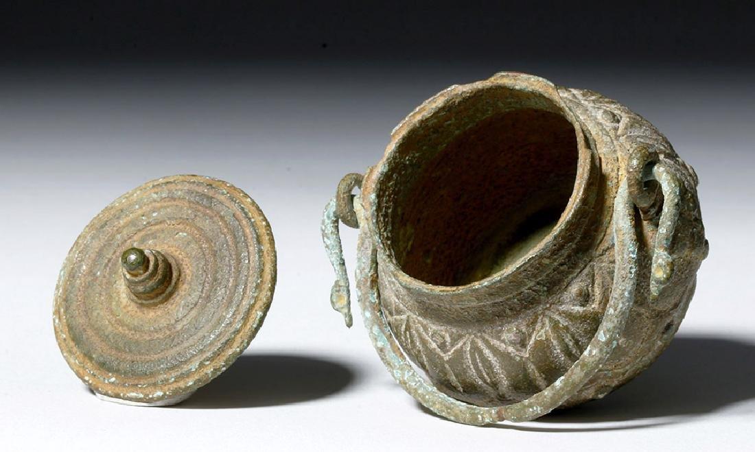 Roman Bronze Lidded Jar / Makeup Pot - 6