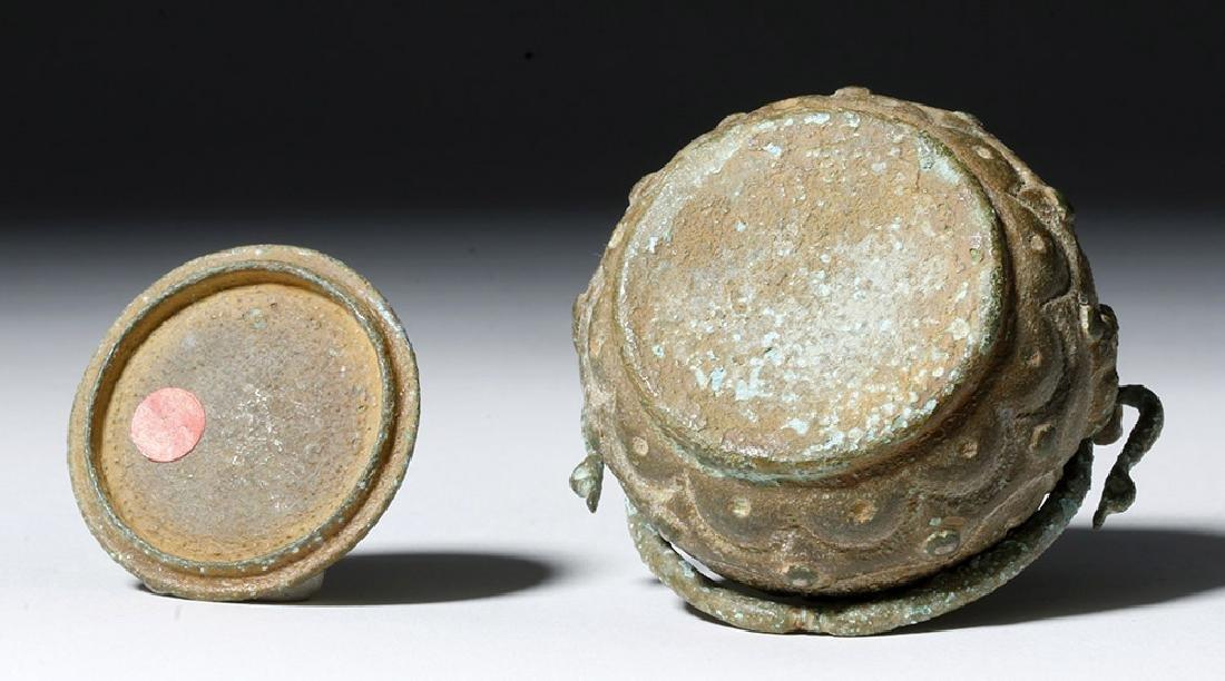 Roman Bronze Lidded Jar / Makeup Pot - 7